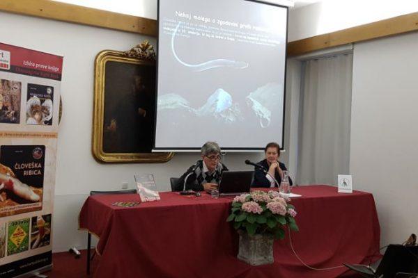 Človeška ribica predstavitev - Slovenska matica, Ljubljana 2019